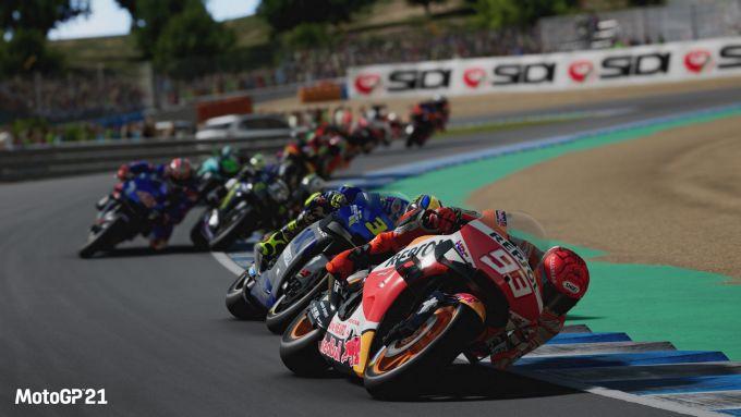 MotoGP 21: uno screenshot del videogame ufficiale