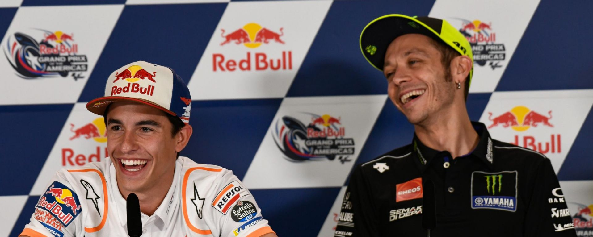 MotoGP Americhe 2019, conferenza stampa del giovedì, Marc Marquez (Honda) e Valentino Rossi (Yamaha)