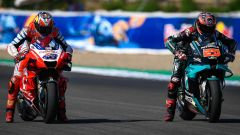 MotoGP Andalusia 2020, Jerez: Jack Miller (Ducati) e Fabio Quartararo (Yamaha)