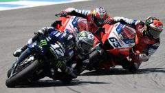 MotoGP Andalusia 2020, Jerez: Vinales (Yamaha), Bagnaia e Miller (Ducati)