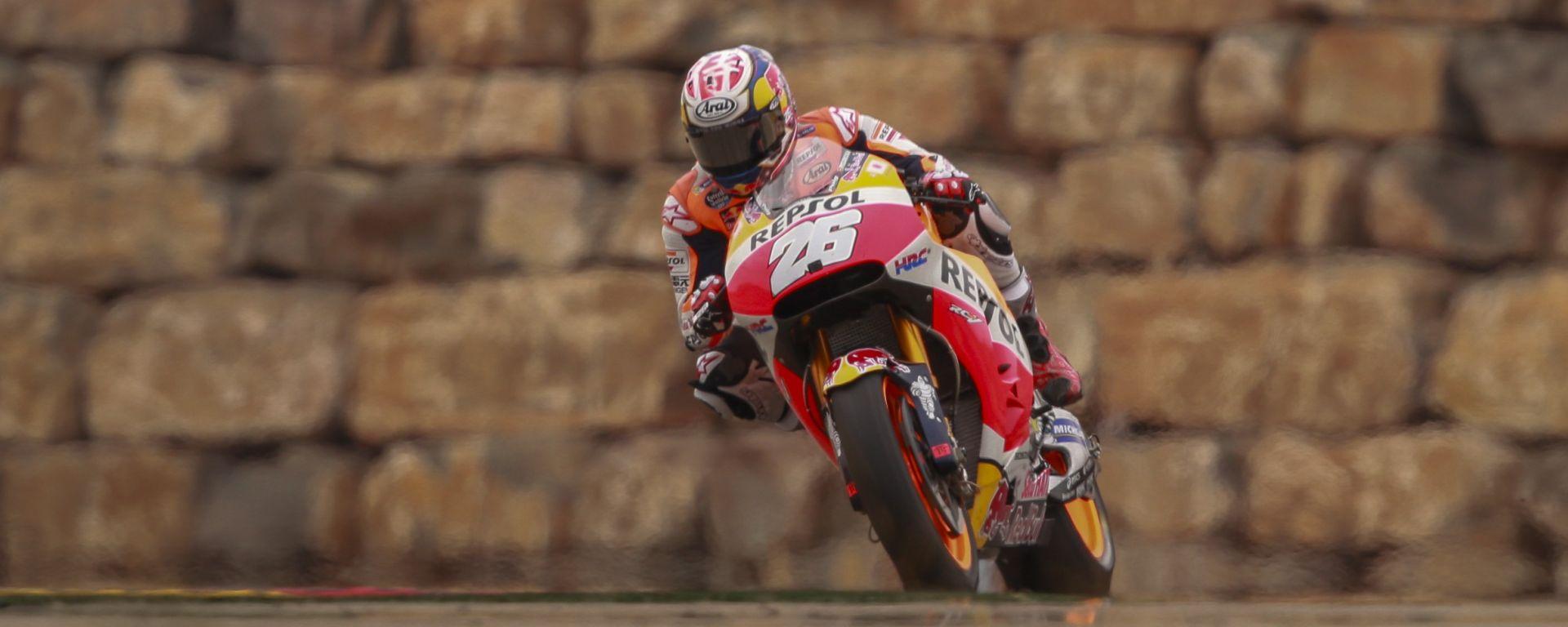 MotoGP Aragon 2016: Pedrosa e Marquez dominano le libere del Venerdì, Valentino Rossi quarto