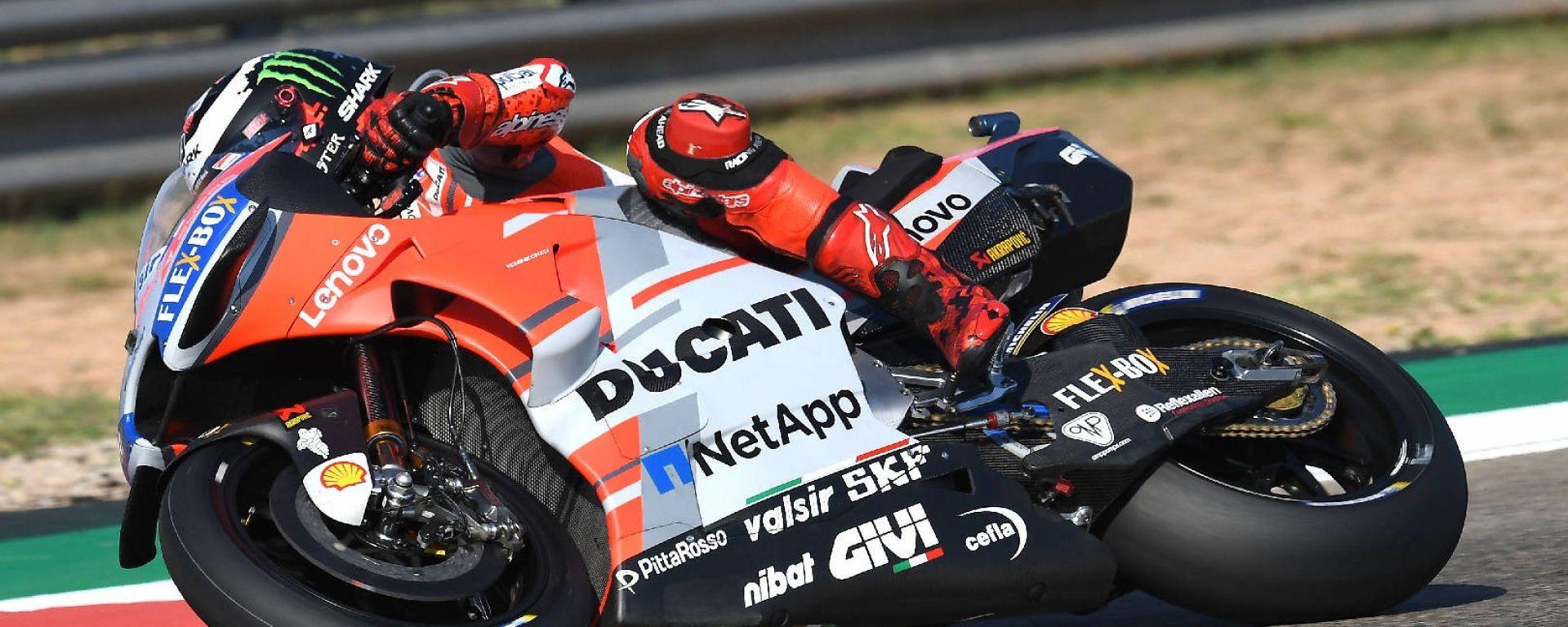 MotoGP Aragon 2018: Lorenzo in pole davanti a Dovizioso, Rossi ko