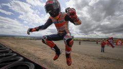 MotoGP Aragona 2019, Alcaniz, Marc Marquez (Honda) festeggia la vittoria
