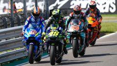MotoGP Argentina 2019, Alex Rins (Suzuki), Valentino Rossi (Yamaha), Fabio Quartararo (Yamaha), Hafizh Syahrin (KTM)