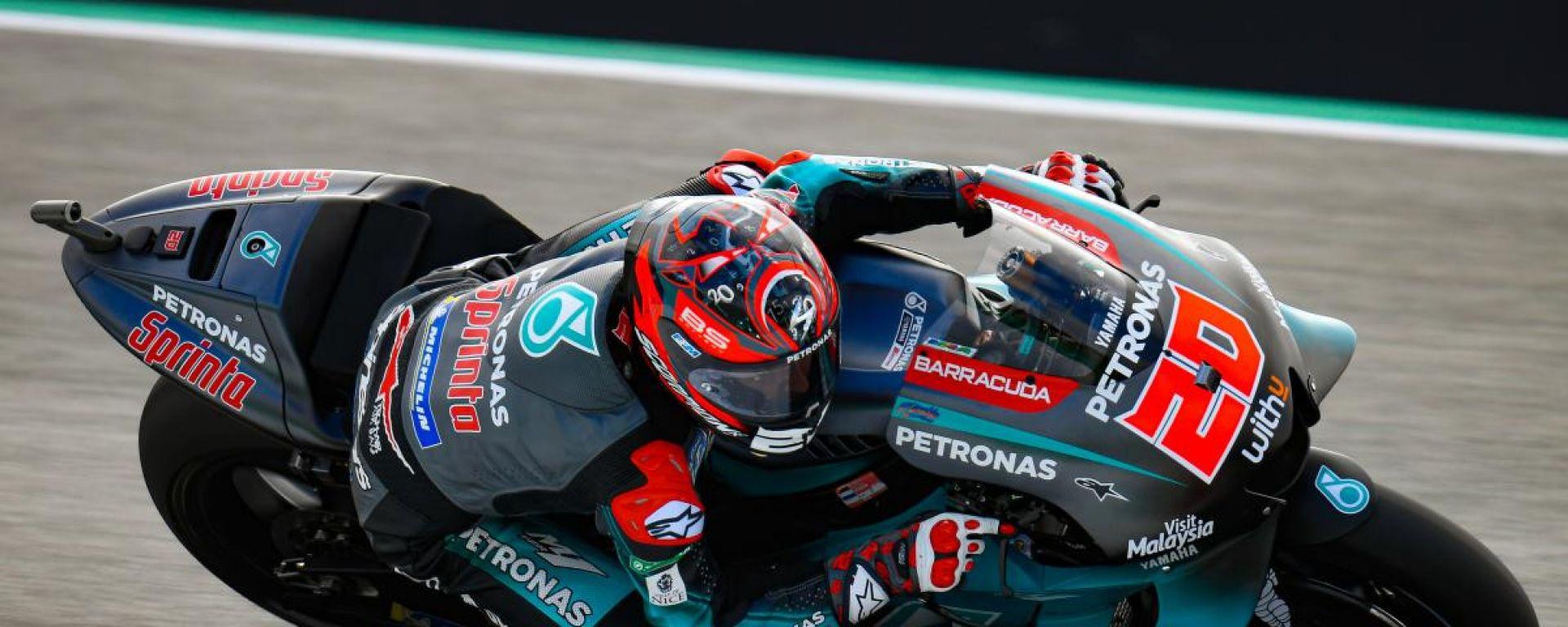 MotoGP Assen, FP3: Quartararo davanti a tutti, Rossi in Q1