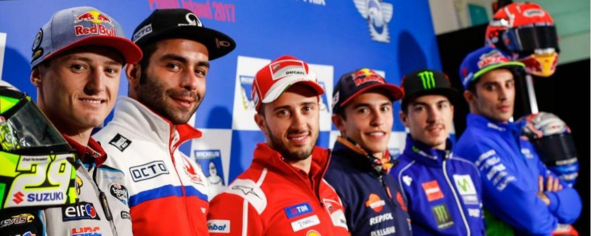 MotoGP Australia 2017: la conferenza stampa del giovedì