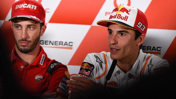 MotoGP Australia 2019, Phillip Island: Andrea Dovizioso (Ducati) e Marc Marquez (Honda)