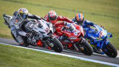 MotoGP Australia 2019, Phillip Island: Andrea Dovizioso (Ducati) tra Miller e Rins