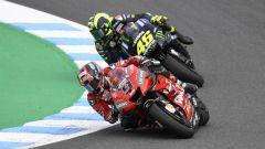MotoGP Australia 2019, Phillip Island: Danilo Petrucci (Ducati) e Valentino Rossi (Yamaha)