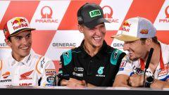 MotoGP Australia 2019, Phillip Island: Fabio Quartararo (Yamaha), Jack Miller (Ducati) e Marc Marquez (Honda)