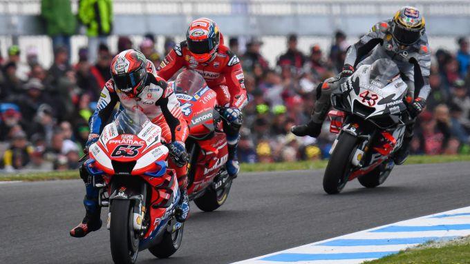 MotoGP Australia 2019, Phillip Island: Francesco Bagnaia (Ducati) precede Dovizioso e Miller