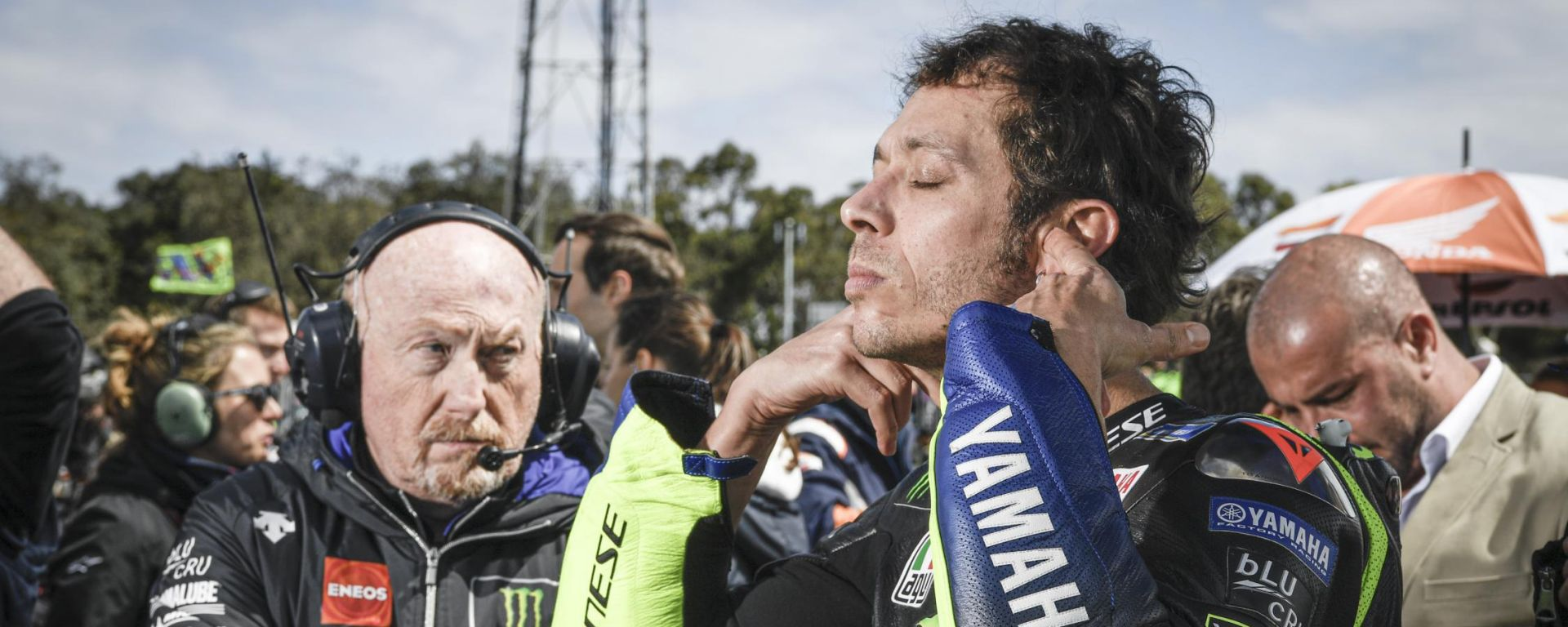 MotoGP Australia 2019, Phillip Island: Valentino Rossi (Yamaha) alla partenza
