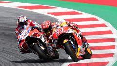MotoGP Austria 2017, l'ultimo tentativo di Marc Marquez contro Andrea Dovizioso