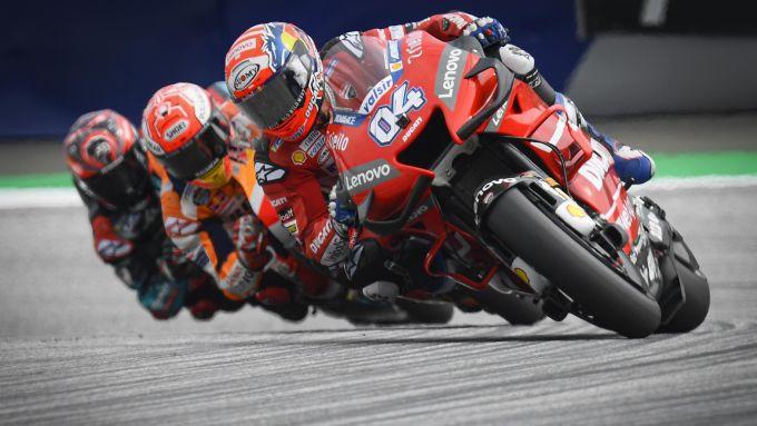 MotoGP Austria 2019, Andrea Dovizioso (Ducati), Marc Marquez (Honda), Fabio Quartararo (Yamaha)