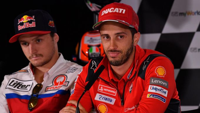 MotoGP Austria 2019, conferenza stampa giovedì, Jack Miller e Andrea Dovizioso (Ducati)