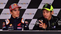 MotoGP Austria 2019, conferenza stampa giovedì, Marc Marquez (Honda) e Valentino Rossi (Yamaha)