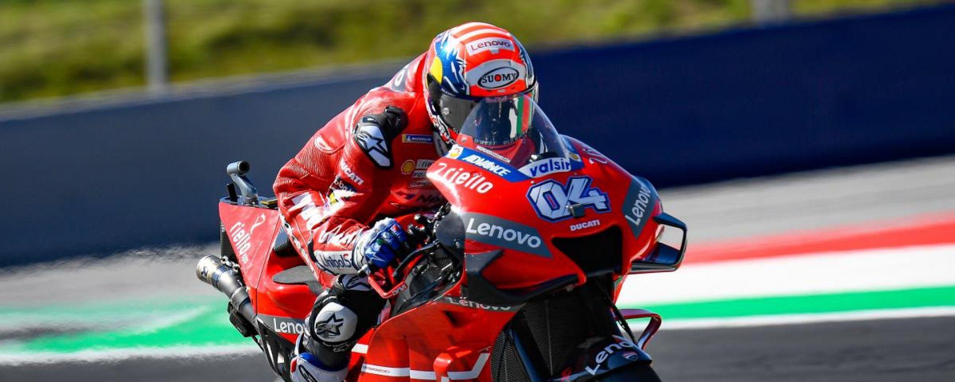 MotoGP Austria 2019, Spielberg: Andrea Dovizioso (Ducati) è il più rapido al termine delle FP1
