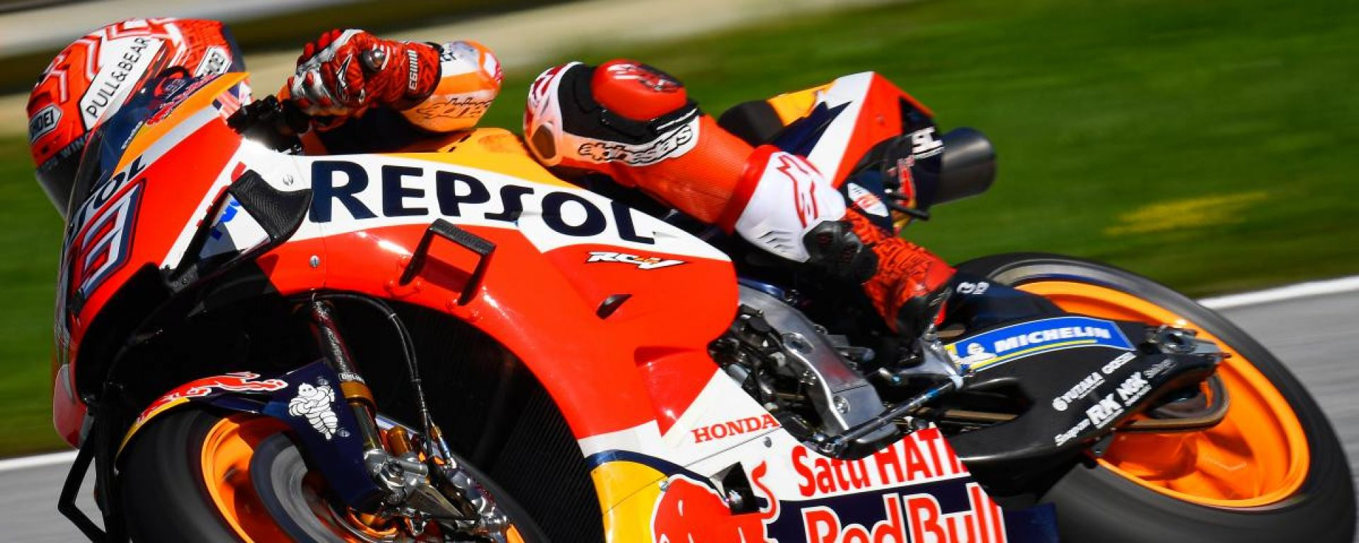 MotoGP Austria 2019, Spielberg: Marc Marquez (Honda) sul tracciato