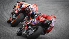 MotoGP Austria 2019, Spielberg, Red Bull Ring: Andrea Dovizioso (Ducati) insegue Marc Marquez (Honda)