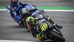 MotoGP Austria 2019, Valentino Rossi e Maverick Vinales (Yamaha), Alex Rins (Suzuki)