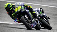 MotoGP Austria 2019, Valentino Rossi e Maverick Vinales (Yamaha)