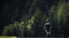 MotoGP Austria 2019, Valentino Rossi (Yamaha) sulla pista austriaca di Spielberg