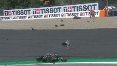 MotoGP Austria 2020: Incidente Zarco-Morbidelli, i rottami delle due moto