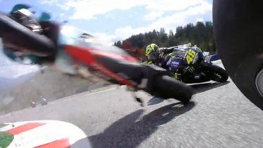 MotoGP Austria 2020: Incidente Zarco-Morbidelli, on board dalla moto di Vinales