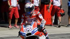 MotoGP Brno 2017, Andrea Dovizioso al cambio moto