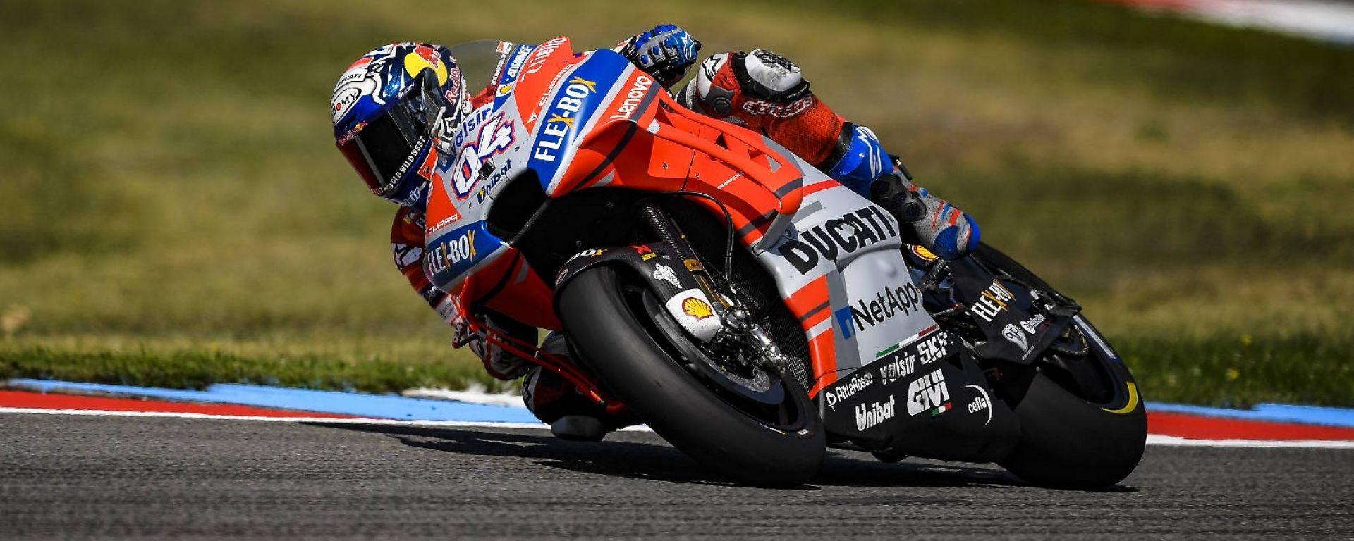 MotoGP Brno 2018: Dovizioso in pole, Rossi secondo