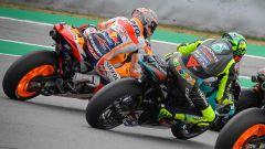 MotoGP Catalunya 2021, Marc Marquez (Honda) vs Valentino Rossi (Yamaha)