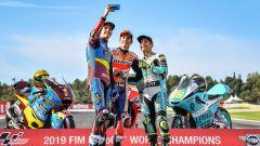 MotoGP Comunità Valenciana 2019, Valencia: Alex Marquez, Marc Marquez (Honda) e Lorenzo Dalla Porta