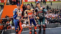 MotoGP Comunità Valenciana 2019, Valencia: Jack Miller (Ducati), Marc Marquez (Honda), Fabio Quartararo (Yamaha)
