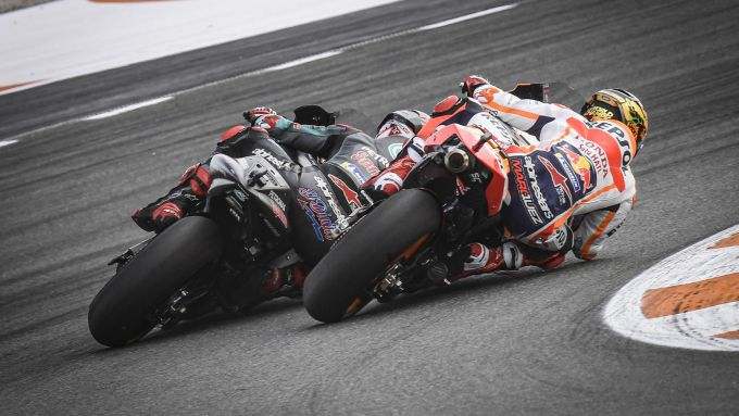 MotoGP Comunità Valenciana 2019, Valencia: Marc Marquez (Honda), Fabio Quartararo (Yamaha)