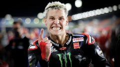 MotoGP Doha 2021: Fabio Quartararo (Yamaha) esulta dopo la vittoria