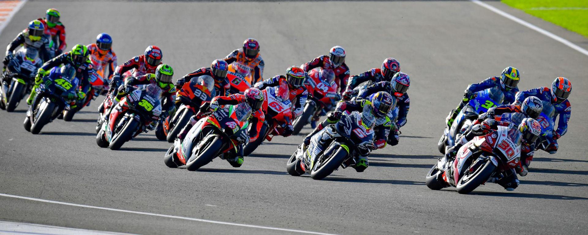 MotoGP Europa 2020, la partenza