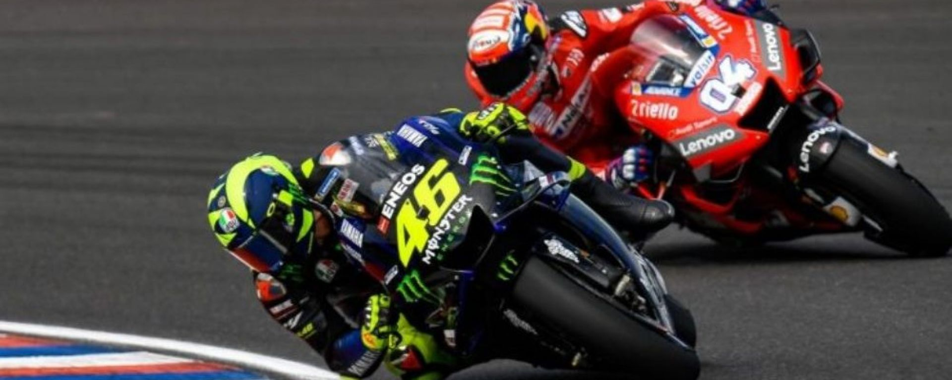 MotoGP Francia 2019, Le Mans. Valentino Rossi (Yamaha) e Andrea Dovizioso (Ducati)