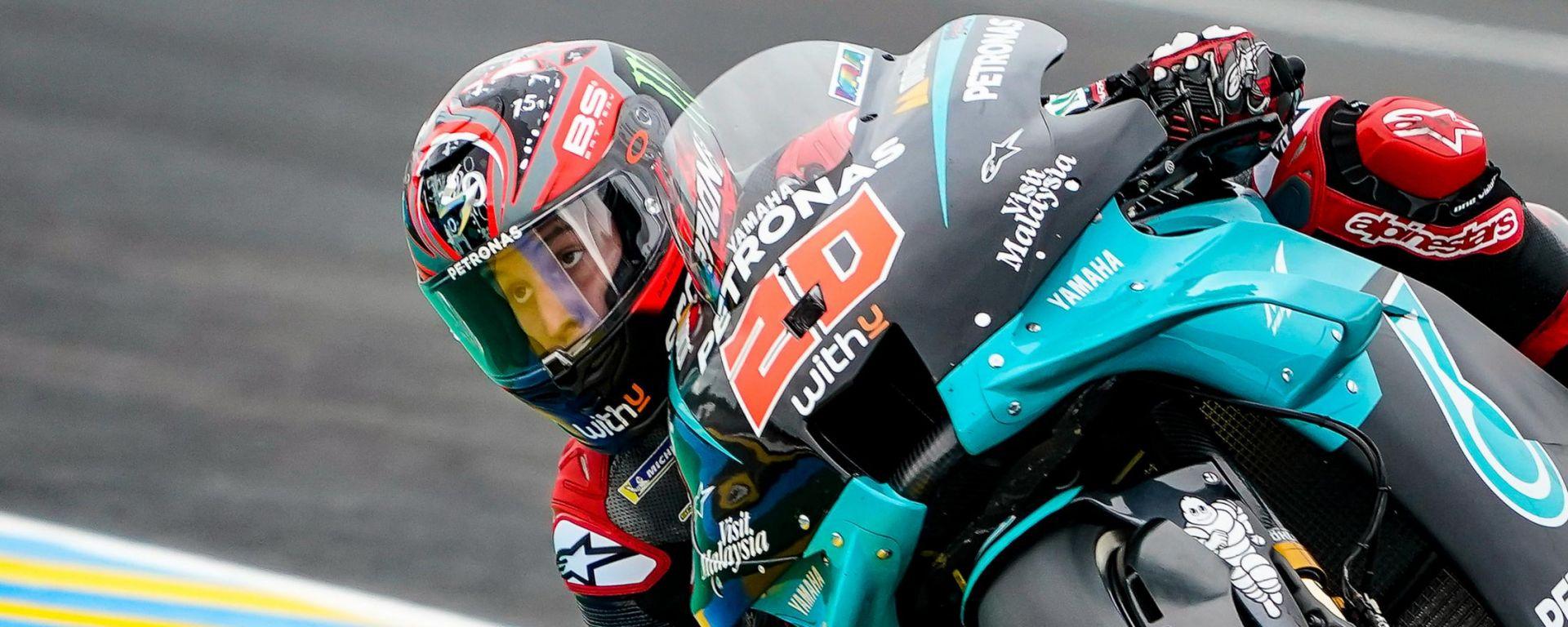 MotoGP Francia 2020, super pole di Quartararo! Petrucci 3°