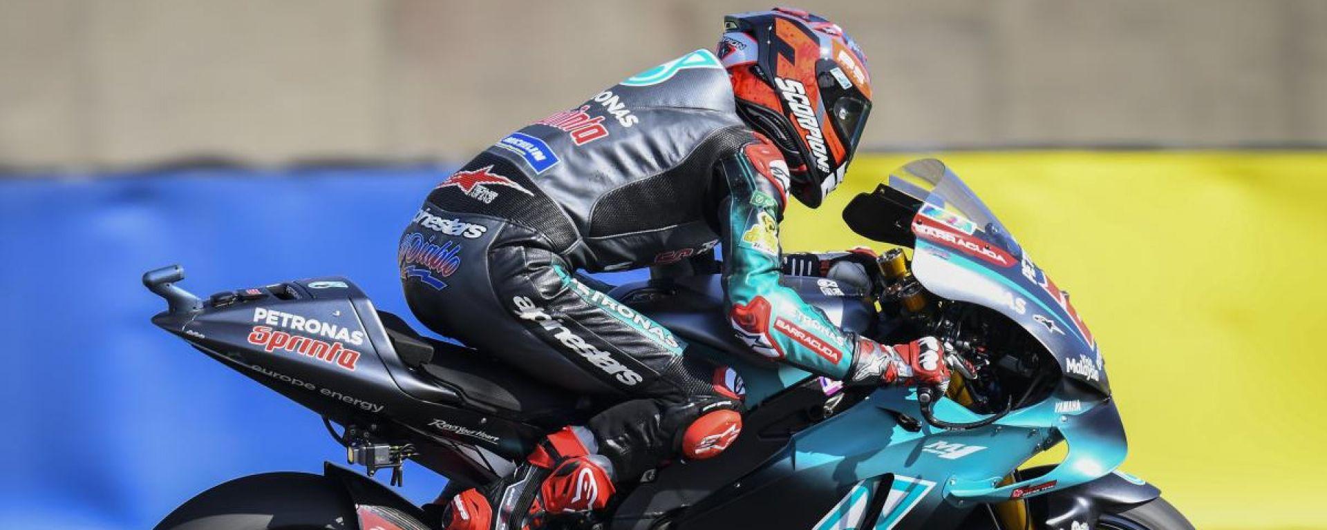 MotoGP Francia, Fabio Quartararo è il più veloce nelle FP1 a Le Mans