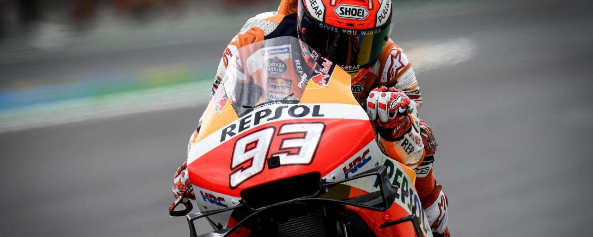 MotoGP Francia, Marquez in pole davanti a Petrucci e Miller