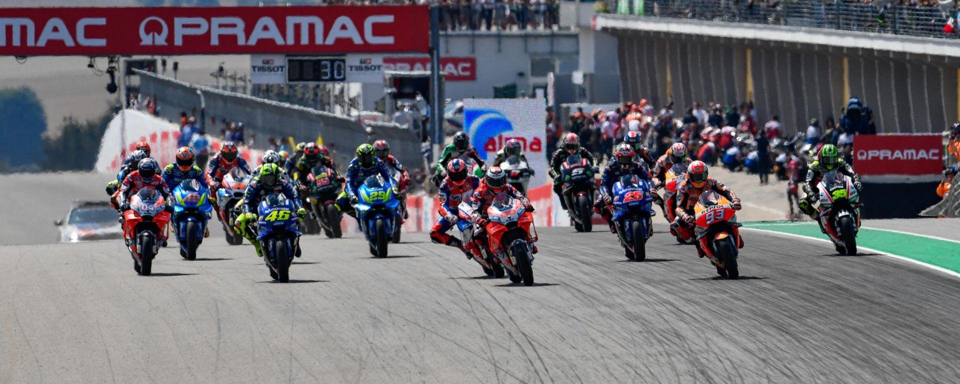MotoGP Germania 2018, la partenza