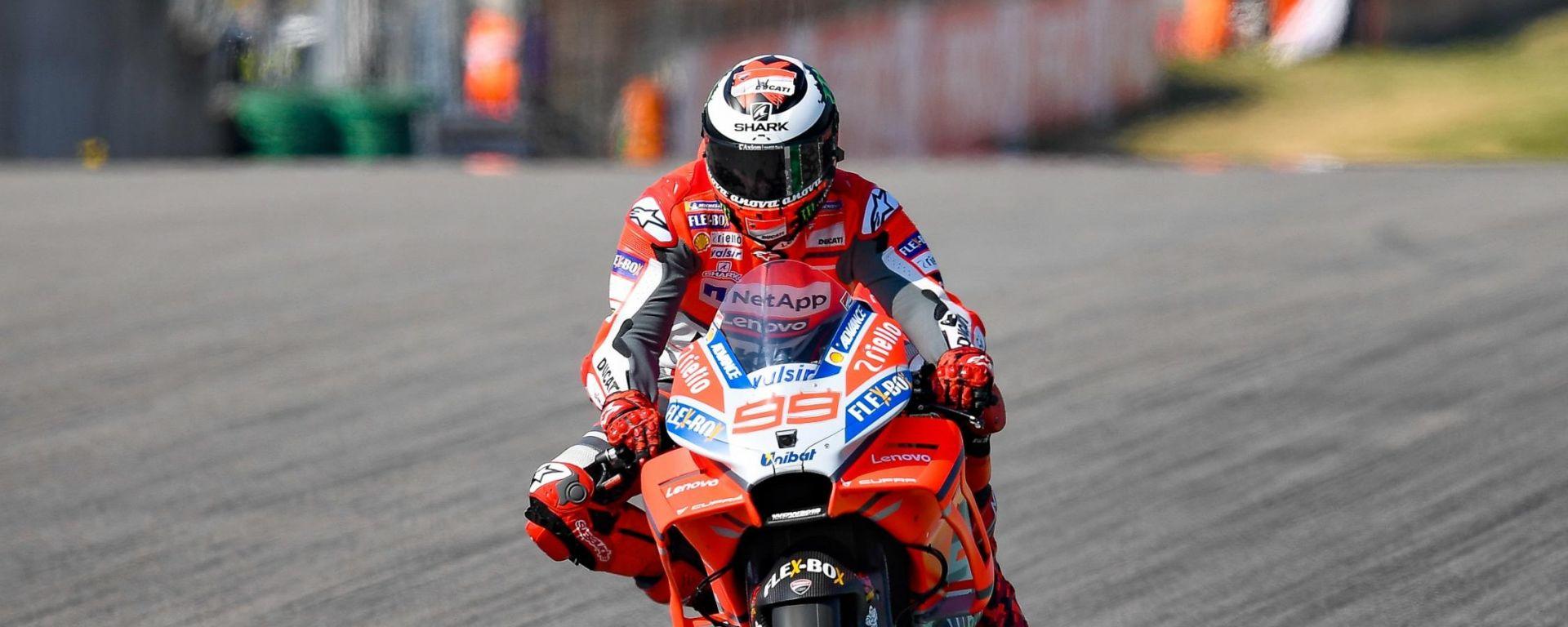 MotoGP Germania 2018, Sachsenring, Jorge Lorenzo in azione
