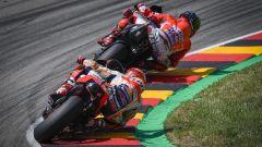 MotoGP Germania 2019, Marquez (Honda) e Lorenzo (Ducati)