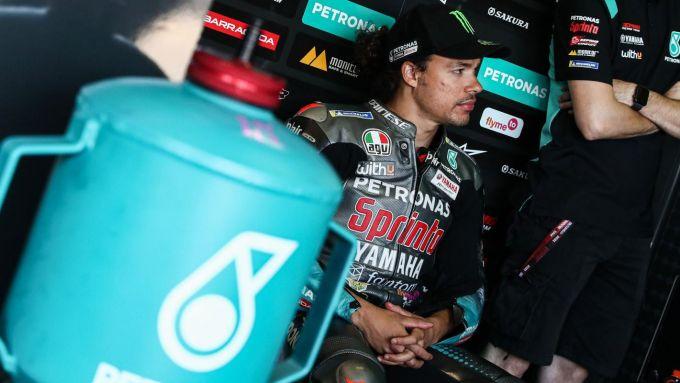 MotoGP Germania 2021, Franco Morbidelli ai box Yamaha Petronas al Sachsenring