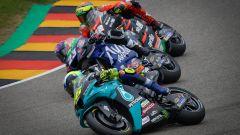 MotoGP Germania 2021, Sachsenring: Valentino Rossi (Yamaha), Enea Bastianini (Ducati), Lorenzo Savadori (Aprilia)