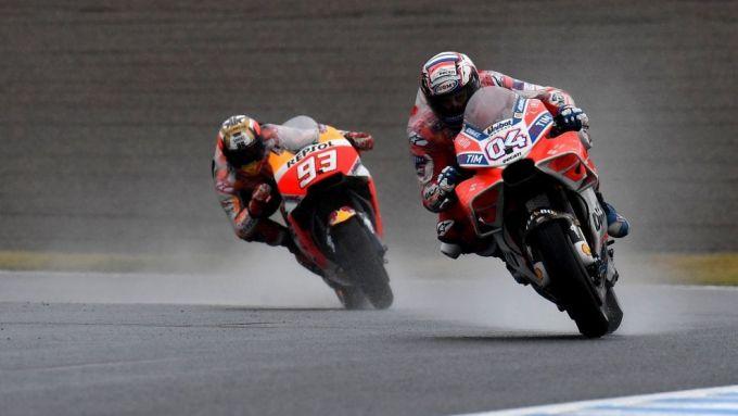 MotoGP Giappone 2018, Motegi: Andrea Dovizioso (Ducati) e Marc Marquez (Honda)