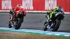 MotoGP Giappone 2019, Motegi: Danilo Petrucci (Ducati), Valentino Rossi (Yamaha)