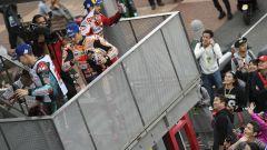 MotoGP Giappone 2019, Motegi: Fabio Quartararo (Yamaha), Marc Marquez (Honda), Andrea Dovizioso (Ducati)