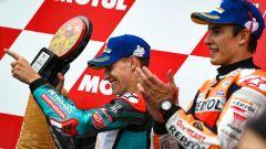 MotoGP Giappone 2019, Motegi: Marc Marquez (Honda) e Fabio Quartararo (Yamaha)