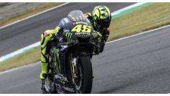 MotoGP, GP Giappone 2019: Valentino Rossi (Yamaha) impegnato sul circuito di Motegi